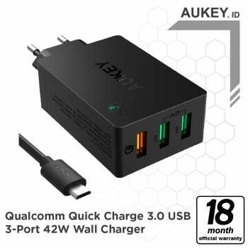 Aukey Charger 3 Ports 42W QC 3.0 & AiQ - 500293