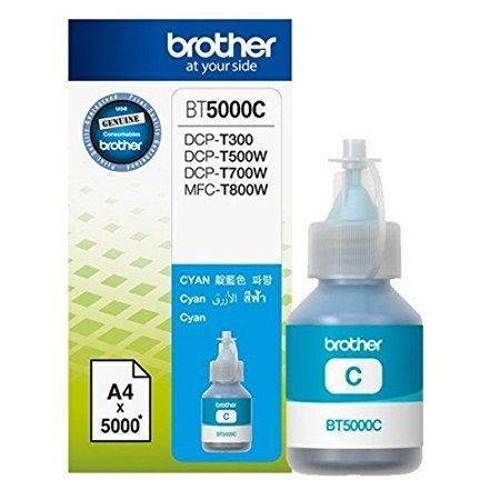 BROTHER Cyan Ink Cartridge - BT-5000 C (Up To 5000 Pages)