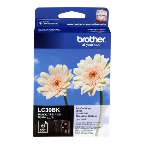 BROTHER Black Ink Cartridge - LC-39 BK (up to 300 pages)