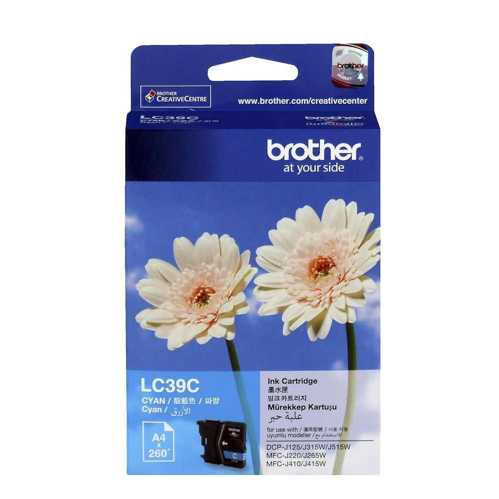 BROTHER Cyan Ink Cartridge - LC-39 C (up to 260 pages)