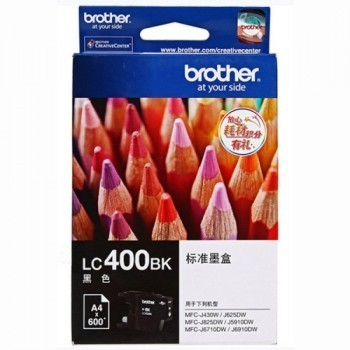 BROTHER Black Ink Cartridge - LC-400 BK (up to 600 pages)
