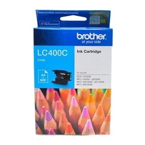 BROTHER Cyan Ink Cartridge - LC-400 C (Up To 600 Pages)
