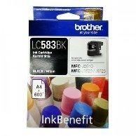 BROTHER Black Ink Cartridge - LC-583 BK (up to 600 pages)