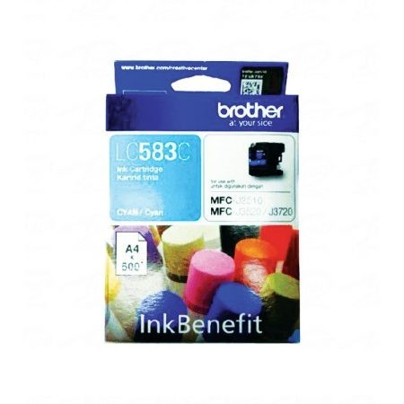 BROTHER Cyan Ink Cartridge - LC-583 C (Up To 600 Pages)