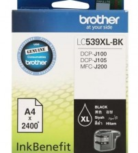 BROTHER Black Ink Cartridge - LC-539 BK (up to 2400 pages)