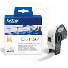 Brother DK-11204 QL Multipurpose Labels 17x54mm White Roll of 400