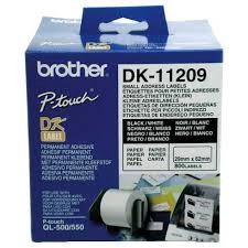 Brother DK-11209 Small Address Paper Labels White 800 Pack