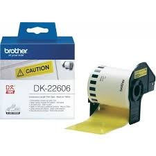 Brother DK-22606 Continuous Length Film Yellow Tape 62mm (15.24m)