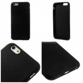 Frosted Plastic Sillicone TPU Softcase for iPhone 6 Plus / 6s Plus - Black
