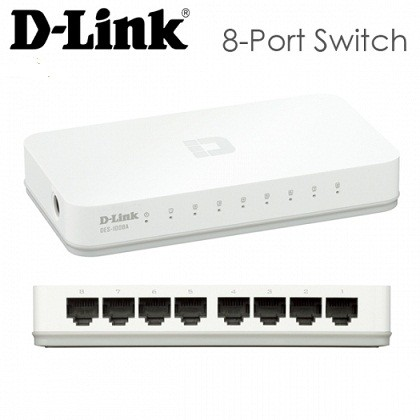 SWITCH D-LINK  DES-1008A 10/100