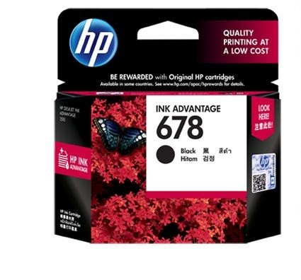 HP Black Ink Cartridge 678 [CZ107AA]