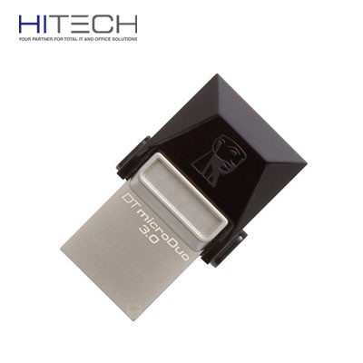 Flashdisk Kingston DataTraveler MicroDuo USB 3.0 Micro USB OTG 16GB - DTDUO3/16GB - Black