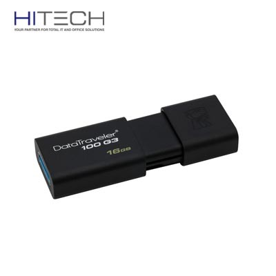 Flashdisk Kingston DataTraveler 100 Generation 3 (DT100G3/16GB) - 16GB - Black