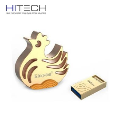 Flashdisk Kingston Shio Ayam Imlek USB 3.1 32GB (Limited Edition) - Golden