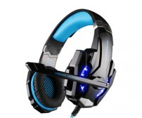Kotion Each G9000 Gaming Headset Twisted with LED Light - Black/Blue