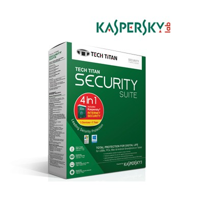 Kaspersky Antivirus 2017 Tech Titan Security Suite 1 Device