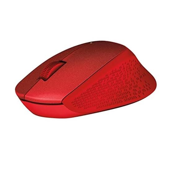Mouse Wireless Silent Plus Logitech M331 Red