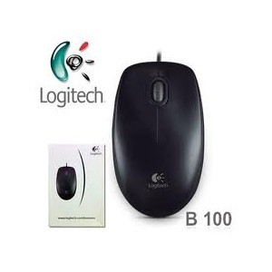 Mouse Wired Optical Logitech B100 - Black