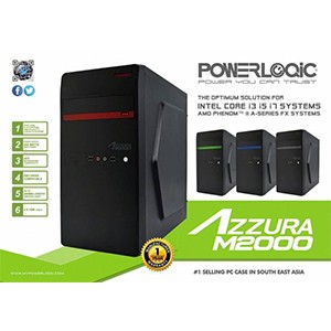 Casing Power Logic Azzura M2000 + PSU 450W