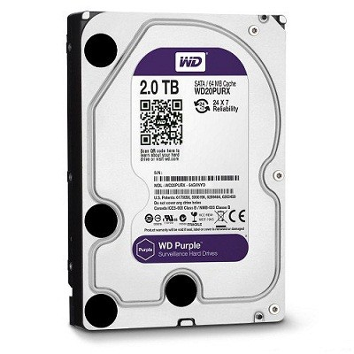 "HARDDISK WD 2TB 3,5"" PURPLE"