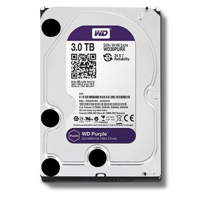 "HARDDISK WD 3TB 3,5"" PURPLE"