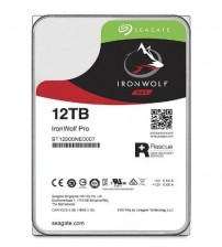 "Hard Drive for Enterprise NAS  Seagate IRONWOLF + Rescue 3.5"" - 12TB - 7200Rpm - Garansi 5 Tahun"