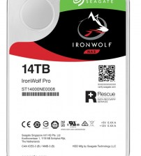 "Hard Drive for Enterprise NAS  Seagate IRONWOLF + Rescue 3.5"" - 14TB - 7200Rpm - Garansi 5 Tahun"