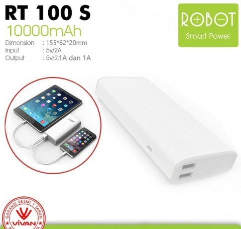 Powerbank Vivan ROBOT RT100S - 10000mAh