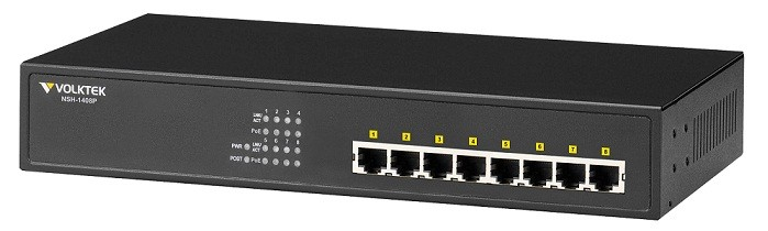 Unmanaged POE Switch Volktek NSH-1408P