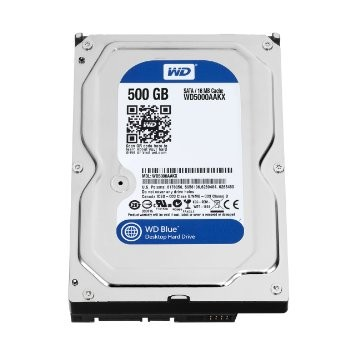 HARD DISK WDC 500 GB/SATA/  3,5''  SATA 3 (BLUE)