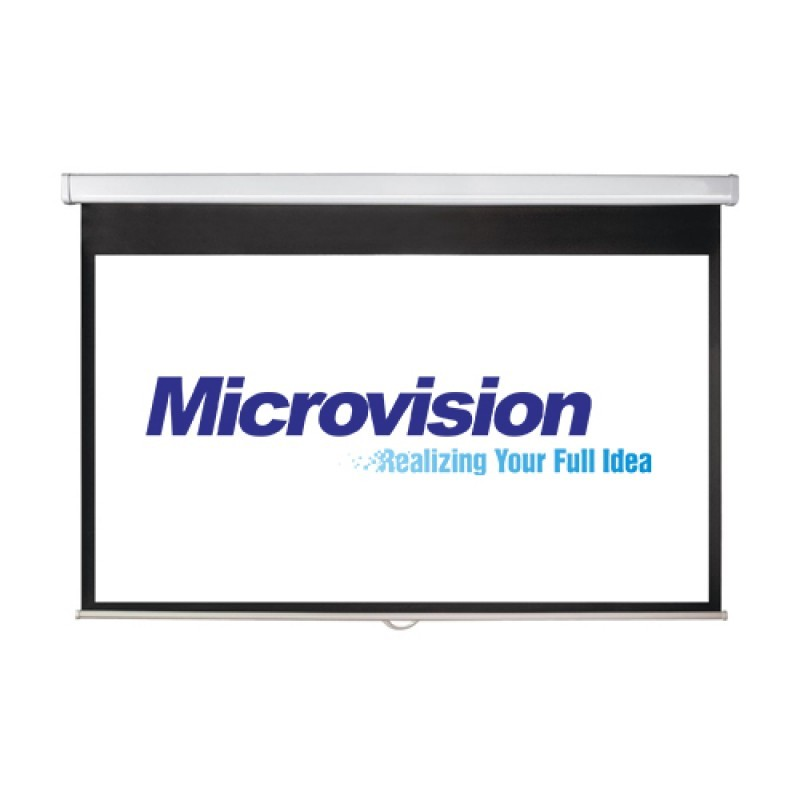 Manual Wall Screen Projector 60 inch Microvision MWSMV1515L