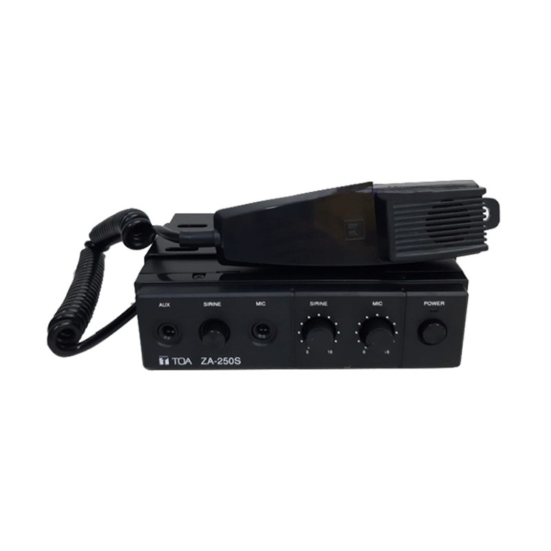 Car Amplifier 25W TOA ZA-250S (DC) + sirene + mic
