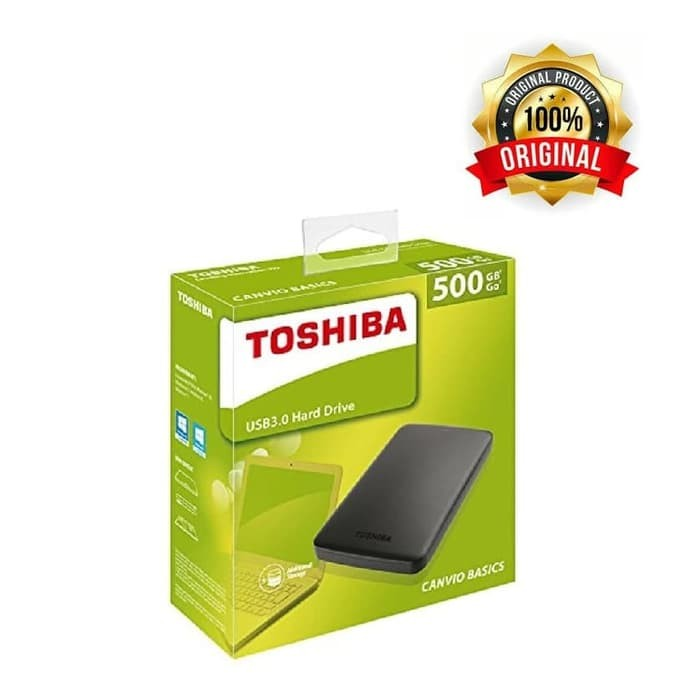 Toshiba Canvio Basic 3.0 Portable Hard Drive 500GB (Black)